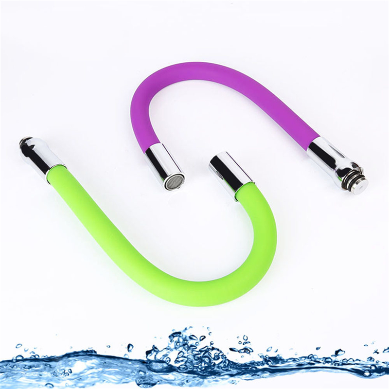 Colorful Silicone Tube Flexible Hose Kitchen Faucet 360 Degree Rotary Faucet Filter Water Tap Torneira Cozinha 5 Colors Optional