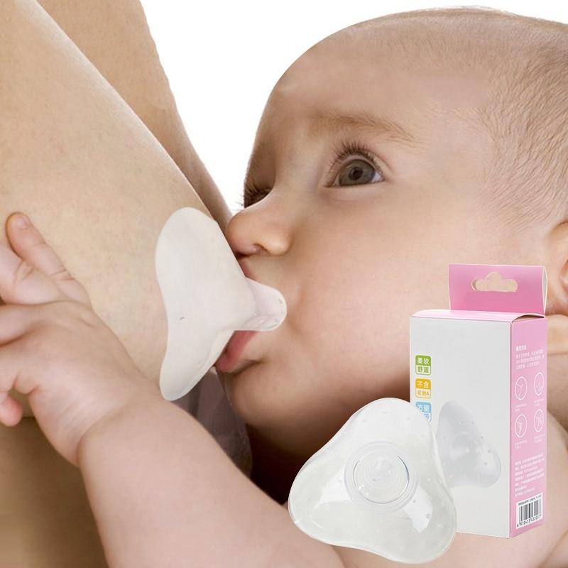 2pcs Silicone Nipple Protectors Breast Milk Feeding Mom Nipple Shields Breastfeeding Milk Extractor Nipple Protection Cover