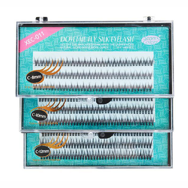 120 пряди/коробка натуральные веерные ресницы, высококачественные шелковые накладные ресницы C Curl Dovetail fly для наращивания ресниц, макияж