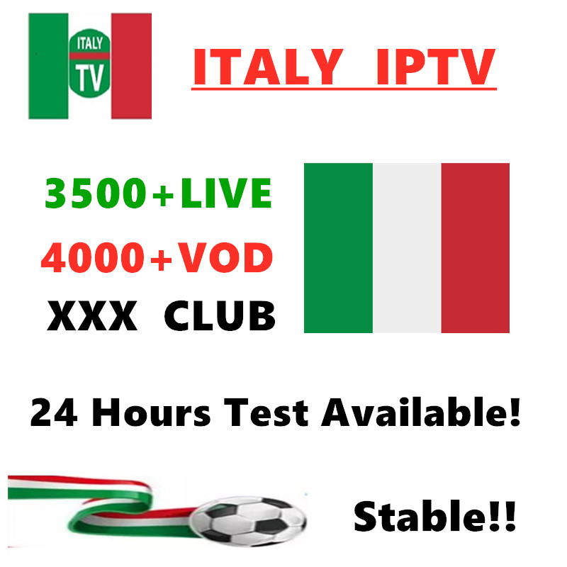 IPTV M3u Subscription Iptv Italy  Mediaset Premium 3500+LIVE Support Android Box Enigma2 Smart TV PC Linux Free Test