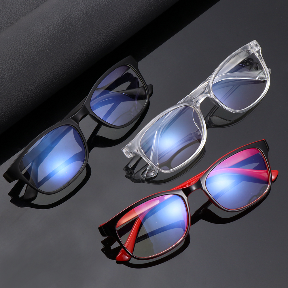 Fashion Blue Light Blocking Glasses Unisex Clear Lens Computer Goggles Spectacles Eyeglasses Men Anti Blue Light Gaming Glasses