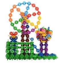 Пластиковые цифры буквы Снежинка строительные блоки Дети сборка