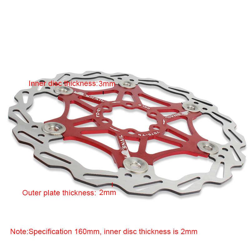 Escargot VTT vtt DH 6 pouces 160mm flotteur flottant disque frein Rotor cyclisme vélo Rotors