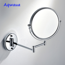 Aqwaua Bath Mirror Cosmetic Mirror 8 Inch 1X/3X Magnification Mirror for Bathroom Wall Mounted Vanity Dual Arm Extend Mirror springquan 8 inch led mirror with lamp 2 face european fashion collapsible wall mirror bathroom mirror flat screen hd 3x