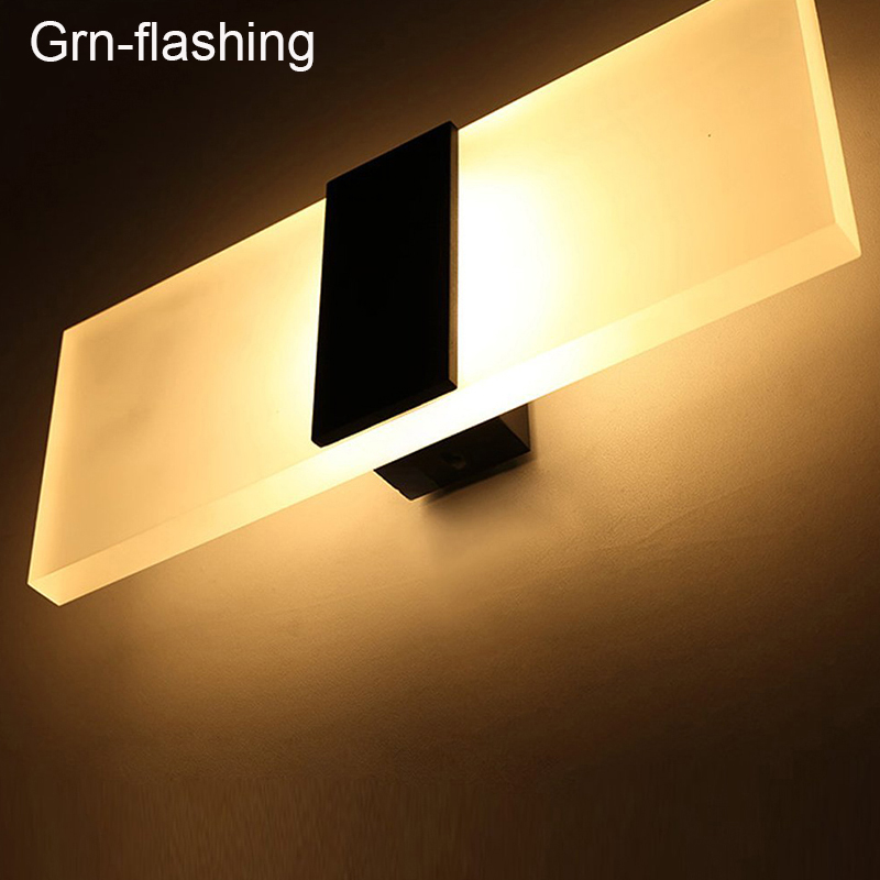 3W/5W/6W Led Acrylic Wall Lamp AC85-265V Wall Mounted Sconce Lights Lamp Decorative Living Room Bedroom Corridor Wall Lights