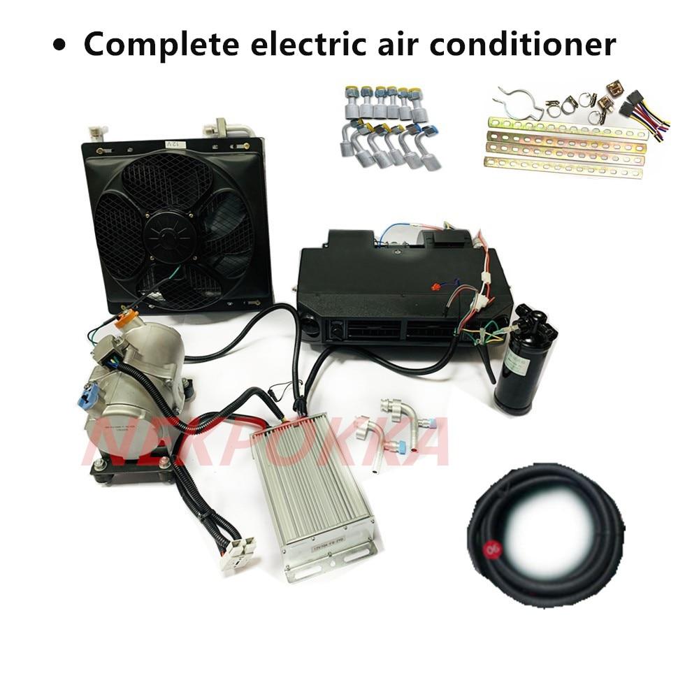 새로운 에너지 차량 전기 압축기 냉동 업그레이드 버전 자동차 전기 에어컨 12V 24V