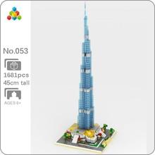 YZ 053ที่มีชื่อเสียงสถาปัตยกรรมBurj Khalifa Tower 3D DIY Mini Diamondอิฐบล็อกอาคารของเล่นเด็กไม่มีกล่อง