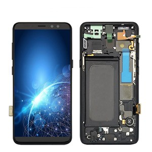 Super OLED LCD For Samsung Galaxy A8 2018 A530 SM-A530F A530DS A530N Touch Screen+Digitizer LCD Display Assembly With Frame LCD(China)