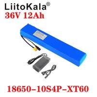Liitokala 36V 12ah 10S4P ad alta potenza e capacità 42v 18650 batteria al litio Scooter elettrico per bici da moto con BMS 42V 2A
