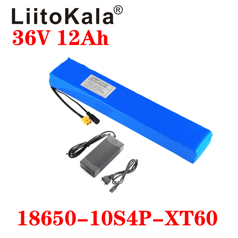 Liitokala 36V 12ah 10S4P High Power and Capacity 42v <font><b>18650</b></font> Lithium Battery Electric Motorcycle Bicycle Scooter with BMS 42V 2A image