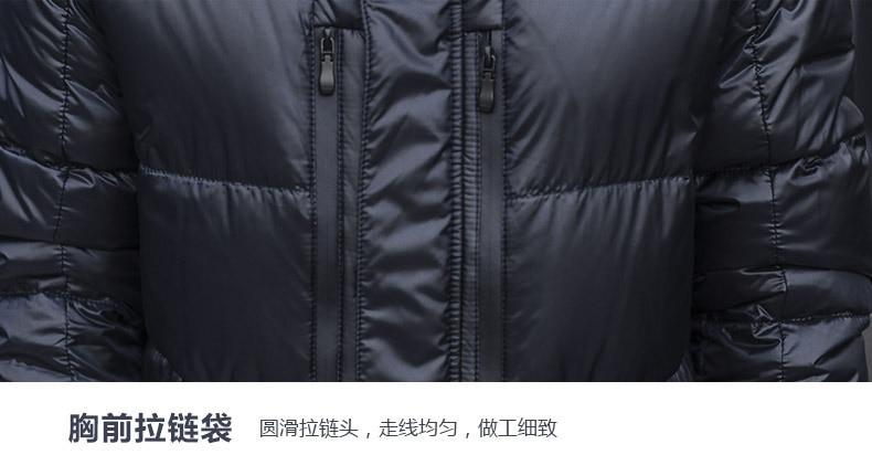 grosso longo casaco 20% ganso branco para