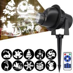 Lampa projektora LED 3D wodoodporny boże narodzenie efekt zdalnego światła na zewnątrz trawnik Bar lampa sceniczna płatek śniegu lampa projektorowa wakacje