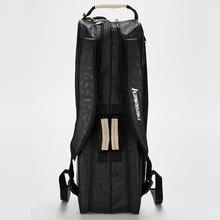 Профессиональная сумка для бадминтона Kawasaki для 6 ракетов сумка для теннисных ракеток спортивный рюкзак