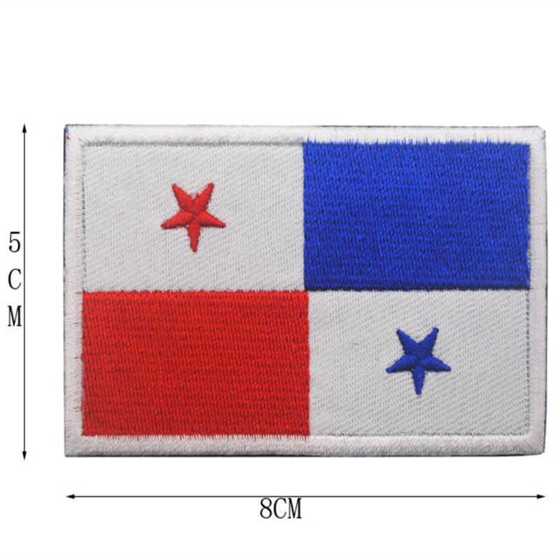 1 adet 3D işlemeli fas küba nijerya sırbistan slovakya tunus bayrağı yama taktik askeri dikmek bayrak kot için yama giysi