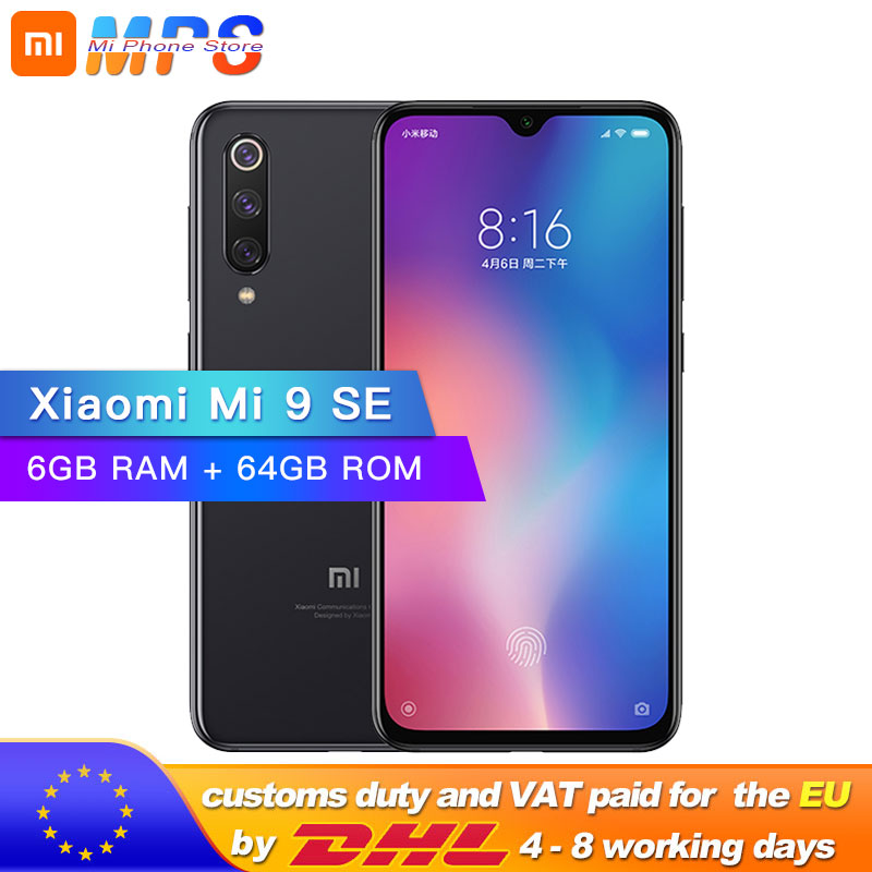 Global ROM Xiaomi Mi 9 SE 6GB 64GB Mi9 SE Mobile Phone Snapdragon 712 Octa Core 5.97