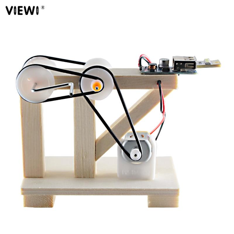 NEW DIY Self-made Night Light Scientific Experiment Manually Dynamo Bulb Lamp Children Holiday Gift Mini Wood Emergency Lights