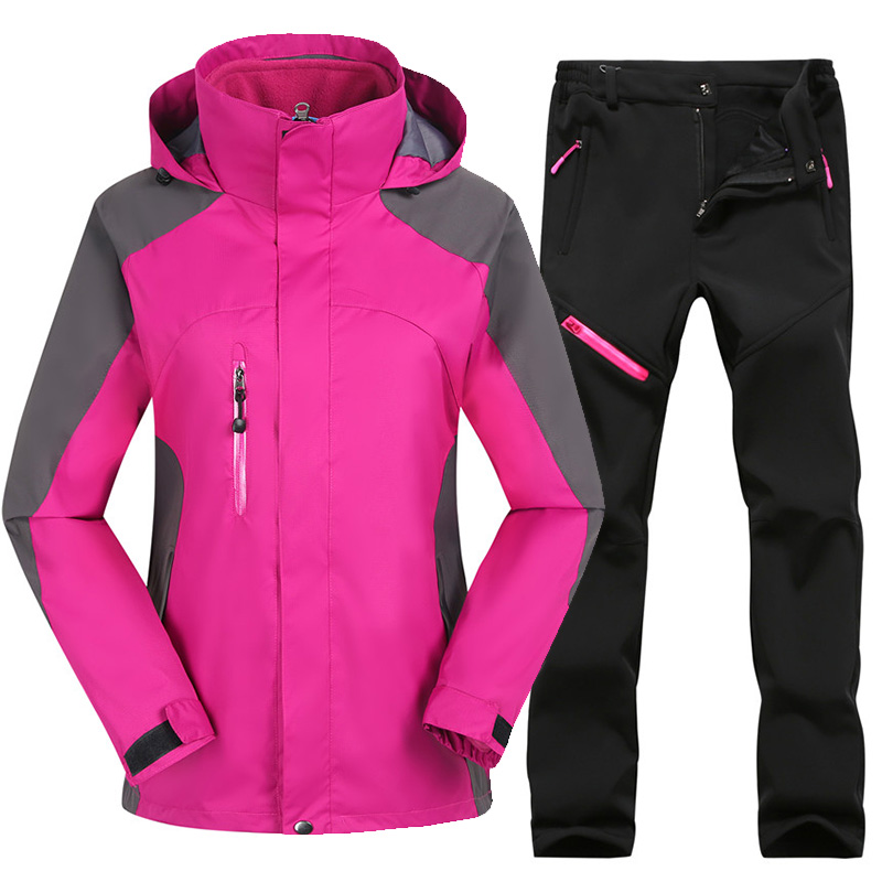 Winter Ski Suit Women Skiing And Snowboard Sets Thicken Warm Waterproof Windproof Ski Jackets Suits Outdoor Snow jackets+Pants