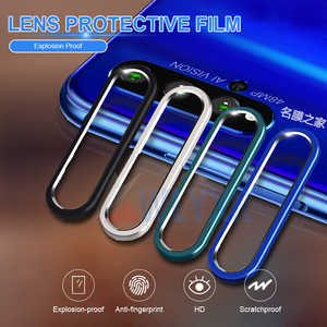 For Huawei P30 Pro P20 Mate 30 Metal Rear Lens Protective Ring + Tempered Glass Camera Lens Film For Honor 20 i Screen Protector(China)