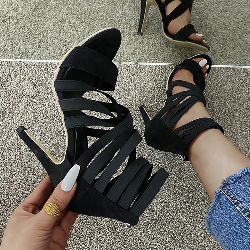 Pumps Women Shoes High Heels Women Sandals 2021 Zipper New Fashion Summer High Heels Sexy Ladies Peep Toe Shoes Women Pumps