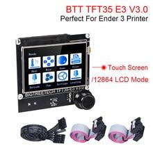 Bigtreetech tft35 e3 v3.0 tela de toque 12864 display lcd para skr mini e3 v2 ender 3 v2 atualização mks tft35 cr10 3d peças da impressora