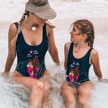 Купальник для мамы одежда маленьких девочек бикини и дочки пляжная