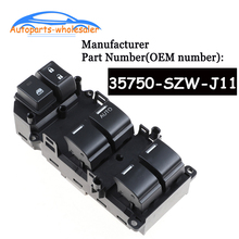 مفتاح التحكم في نافذة السيارة ، ملحقات السيارة 35750 SZW J11 35750SZWJ11 35750 SZW J01 لهوندا أكورد RHD