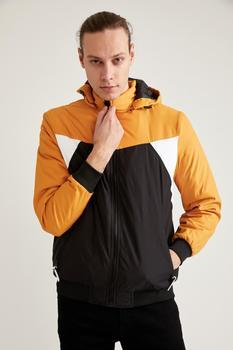 DeFacto wiosna płaszcze męskie i kurtki wzór bloku bluza z kapturem w rozmiarze Slim Fit płaszcz odzież wierzchnia ciepła moda nowy Season-T1028AZ21SP tanie i dobre opinie