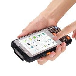 CARIBE Android palmtop przemysłowy Tablet ręczny skaner kodów kreskowych 1D czytnik danych czytnik NFC GPS