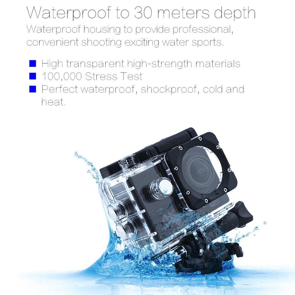 H30e15b1f3a2b4255a8780660b0decf72G Pro Cam Sport Action Con Telecomando Camera 4k Videocamera Wifi Ultra Hd 16mp DVR Sports Outdoor Diving Bicycle Camcorder