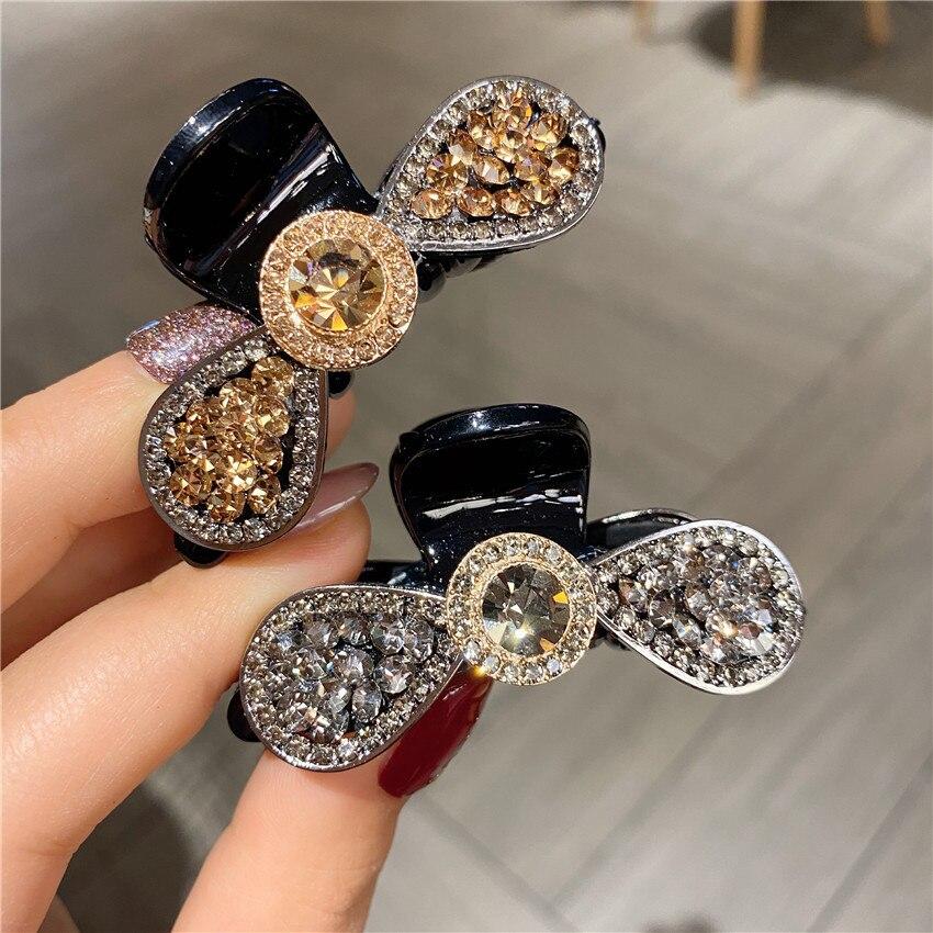 Garras de Cabelo Acessórios para o Cabelo Grampo de Cabelo Moda Menina Retro Cristal Feixe Hairpin Feminino Beleza Caranguejo Headwear Pequeno Mod. 111961