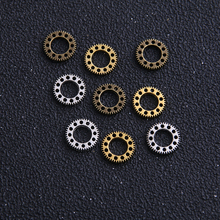 Charm Steampunk-Gear Handmade Jewelry-Making 60pcs for DIY 3-Color 10mm Mini Vintage