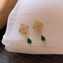 2019  earrings korean flower sweet geometric earring simulated pearl pendientes mujer for women tassel ear jewelry brincos