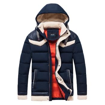 Men 2019 Winter Outdoor Hoods Warm Thick Fleece Jacket Parkas Men New Menswear Casual Adventure WaterBreaker Parkas Coat Men