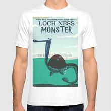 Loch Ness Monster vintage kinder buch reise poster T hemd loch ness monster schottland schottland monster cartoon