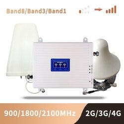 GSM 3G 4G مكبر صوت أحادي 900 1800 2100 ثلاثي الموجات الداعم 2G 3G 4G LTE 1800 الخلوية مكبر صوت أحادي هاتف محمول مكرر إشارة