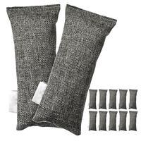 12 pacotes cada mini bambu carvão sacos purificador de ar natural  desodorizador de sapato e eliminador de odor (pacote de 12 sacos)|Caixas e sacos de carvão ativo| |  -