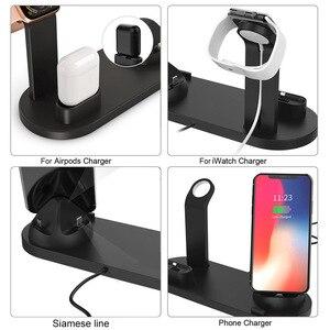 Image 5 - Fdgao suporte dock station para carregamento, suporte para iphone 11, pro, x, xr, xs, max, 8, 7, 6s carregador usb de airpods da série apple, relógio