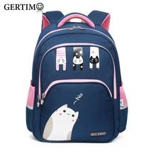 New Arrival School Bags for Girls  Lovely Cat Printing Backpacks Little Kids 3-4 Grade Orthopedic Satchel