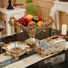 wedding decoration home decoration  European decor set fruit plate luxury American modern household living room table decoration