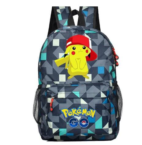 Anime Pokemon Go Game Backpack Canvas Pikachu Boys Girls Teenagers Schoolbag Rucksack Men Women Mochilas Travel Bag