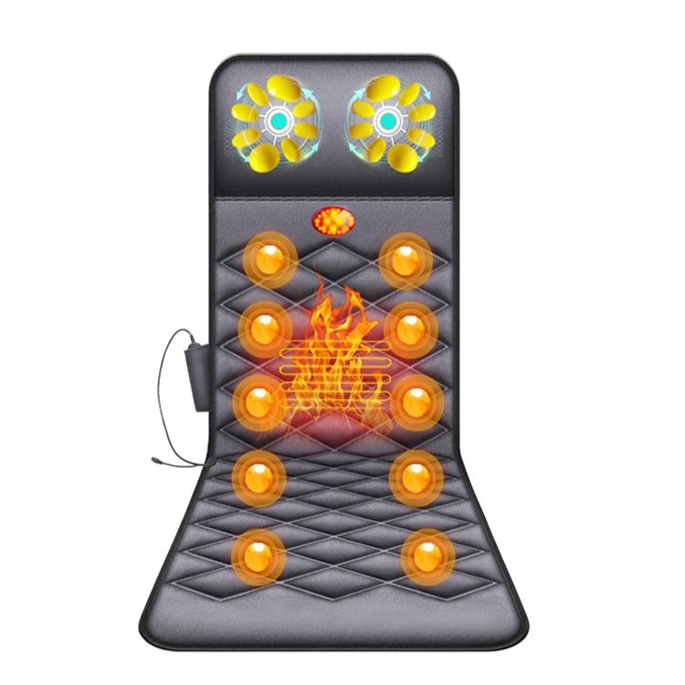 Electric Massage Mattress Pillow Whole Body Electric Heating Kneading Cervical Vertebra Press Neck Shoulder Waist Shock Many