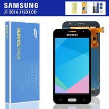 J120f lcd для SAMSUNG GALAXY J1 2016 J120 J120f J120M J120H дисплей сенсорный экран дигитайзер сборка для Samsung j120f lcd
