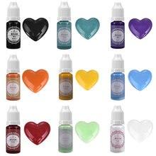 Pigmento de resina de 17 colores, líquido con pigmentos de resina epoxi, colorante, fabricación de joyas, 10ML