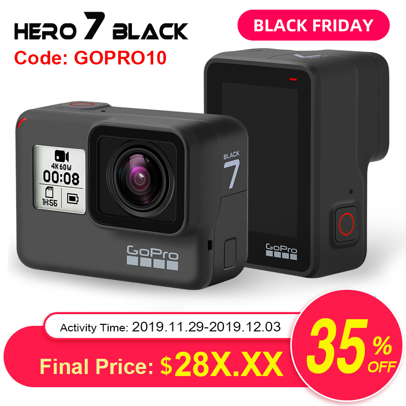 GoPro HERO7 noir caméra d'action étanche avec écran tactile caméra de sport Go Pro HERO 7 12MP Photos en direct stabilisation de Streaming
