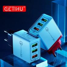 GETIHU 18W ładowarka USB szybkie ładowanie 3.0 uniwersalny Adapter ścienny ue szybkie ładowanie dla iPhone 12 11 Pro Max 8 7 6 Xiaomi 10 Samsung