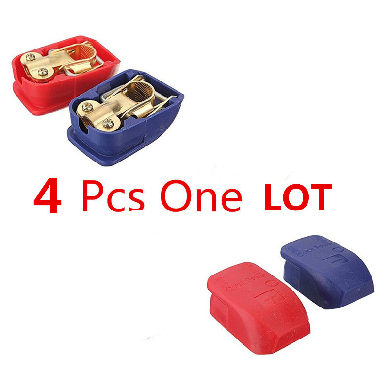 4PCS/2 pair <font><b>Car</b></font> <font><b>Battery</b></font> <font><b>Connector</b></font> <font><b>Battery</b></font> Quick Disconnect Quick <font><b>Connector</b></font> <font><b>Battery</b></font> Terminal <font><b>Connector</b></font> with Caps Top Posts image