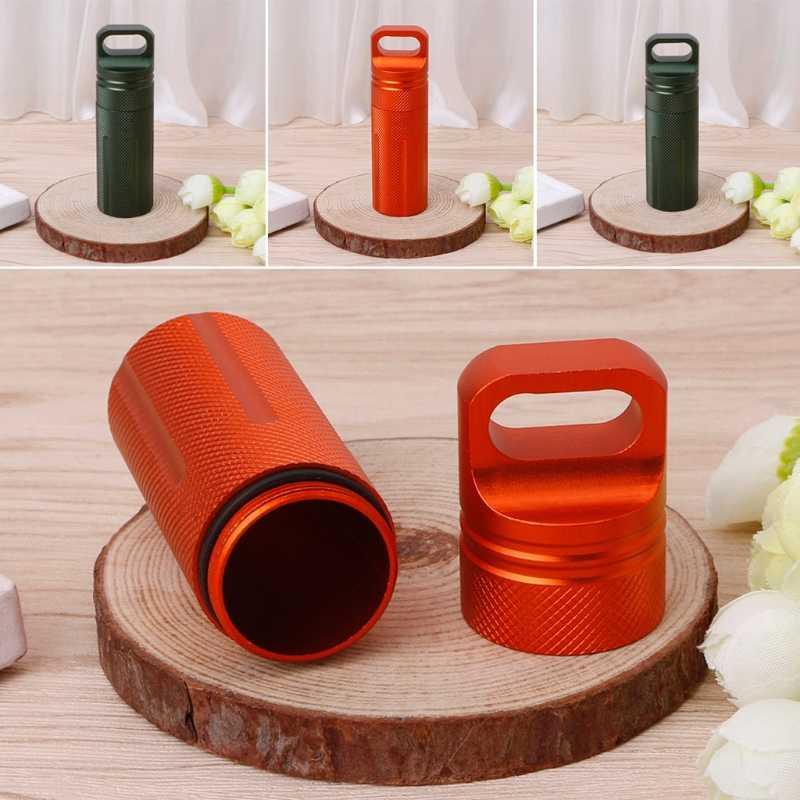 المحمولة مفيدة للماء صندوق لحبوب الدواء من المعدن حالة زجاجة حامل الحاويات الطب