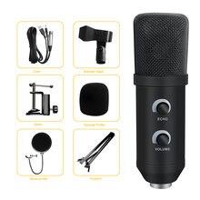 Студийный конденсаторный usb компьютерный микрофон в комплекте