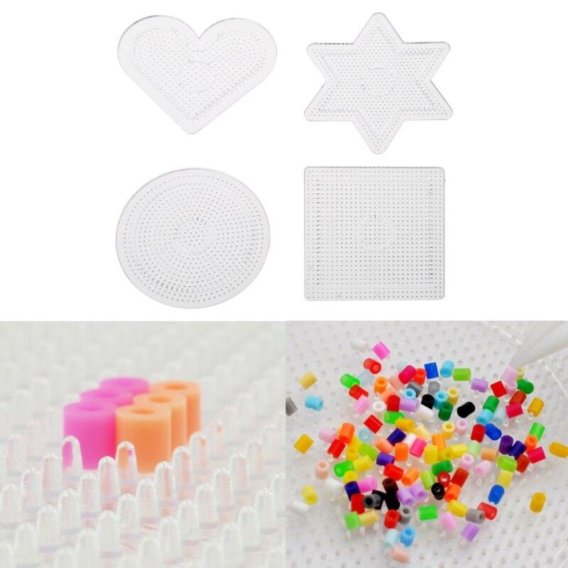 4Pcs Diy Transparent Shape Puzzle Template For 2.6mm Hama Beads Perler Beads Q6PD
