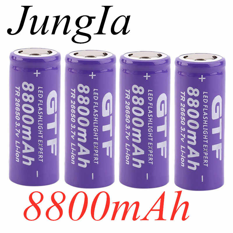 2020  New 3.7V 26650 Battery 8800mAh Li-ion Rechargeable Battery For LED Flashlight Torch Li-ion Battery accumulator battery
